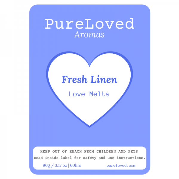 Fresh Linen Scented Wax Melts - Love Melts by Pure Loved Aromas