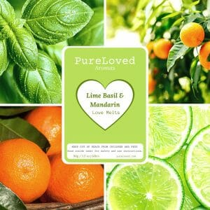 Lime Basil and Mandarin Wax Melts - Love Melts by Pure Loved Aromas