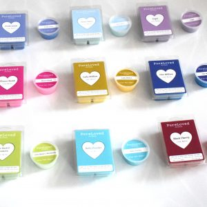 sample and full size wax melts